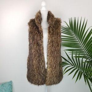Michael Kors | Faux Raccoon Fur Vest Size M